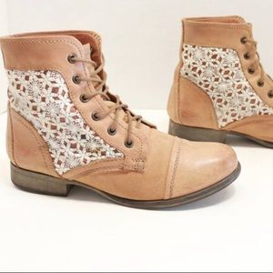 Steve Madden Thunder-C Lace Booties-Boots